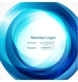 blue swirl login page vector image