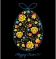 floral colorful easter egg vector image