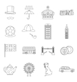 Great Britain set outline style vector image