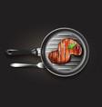 grilled beef steak vector image