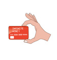 Infinite money card vector image