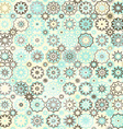 snowflakes vintage seamless pattern vector image