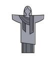 symbolic christ statue vector image