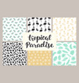 tropical seamless patterns collection vector image