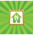 Young family house picture icon vector image