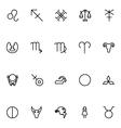 Zodiac Icons 2 vector image
