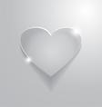 beautiful grey heart sign vector image vector image