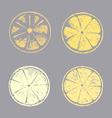 Abstract lemon slice Sketch hand drawn vector image vector image