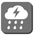Thunderstorm Rounded Square Icon vector image