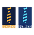 abstract logo tie and business vector image