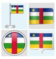 Central African Republic flag - sticker button vector image vector image