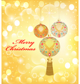 background Christmas with decorative vector image vector image