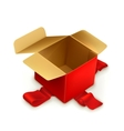 Empty gift box vector image