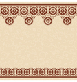 beige seamless background with dark brown border vector image
