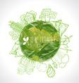 Green Eco Earth Ecology concept vector image