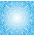 White Mandala Sun in the Sky vector image vector image