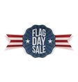 Flag Day Sale festive Banner with Text and Shadow vector image