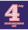 Independence Day card in a flags vector image