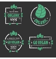 Organic food Go vegan icons set vector image