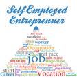 Self employed entrepreneur job occupation vector image