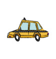 taxi car transport public travel urban vector image