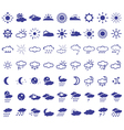 weather icons on white vector image