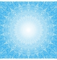 White Mandala Sun in the Sky vector image