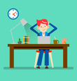 working relax vector image