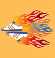 Burning Sport Shoes vector image
