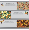 banners with square background vector image