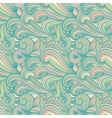 Colorful hand-drawn pattern curls background vector image