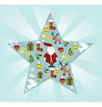 Christmas star shape vector image