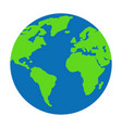 flat planet earth icon for vector image