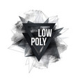 low polygon geometry shape poster design vector image