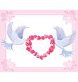 Wedding doves vector image