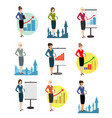 Office workers on a white vector image