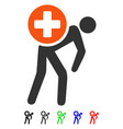 medication courier flat icon vector image
