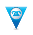 phone icon pointer blue vector image