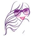 women in sunglasses vector image
