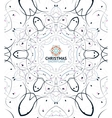 Abstract Christmas snowflake floral design vector image