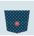 blue textured pocket vector image