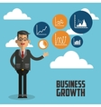 Business growth design vector image