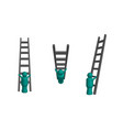 climbing ladder in 3d vector image