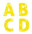 Diamond letters A B C D vector image