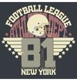 Football Print sportswear vector image