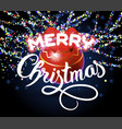 merry christmas lettering congratulation card vector image