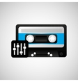 retro music design vector image