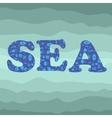Shell Silhouette Decorative Letters Sea vector image