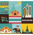 Symbols of Bangkok vector image