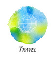World Globe Travel Watercolor Concept vector image